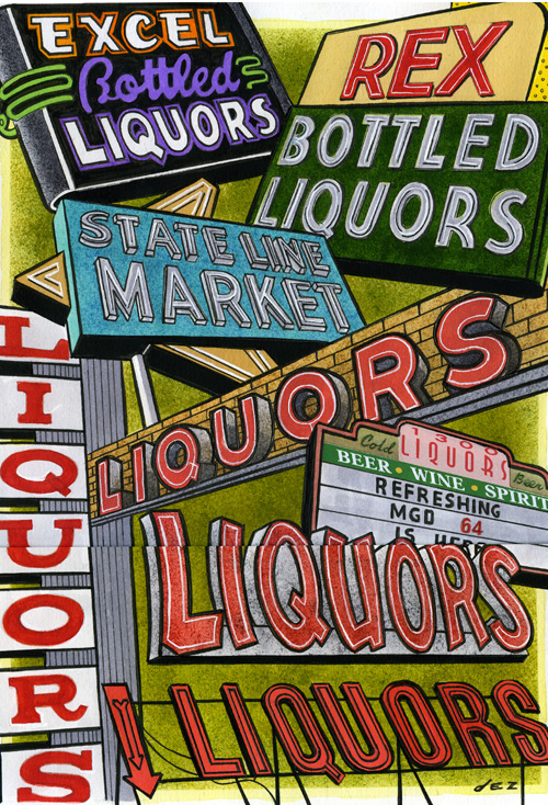 Liquor Signs Series 1