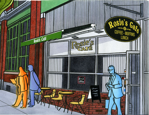 Rosies Cafe, Lowell, Massachusetts