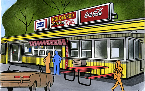 golden-rod-drive-in-gary-destramp-illustration